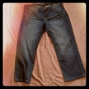 Lucky Brand Easy Rider Straight Leg Crop Jeans